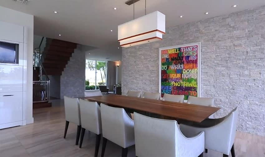 Custom modern home by phil kean designs designing idea for Dining room next to kitchen
