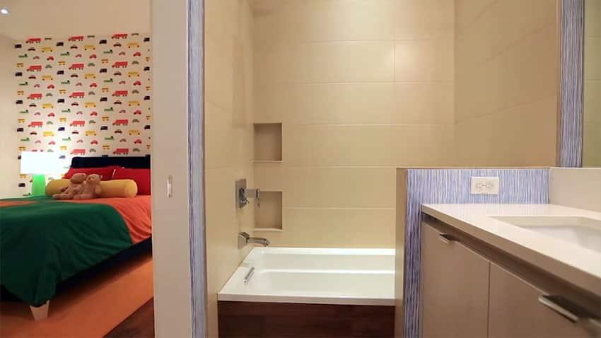 Kids bedroom with ensuite bathroom