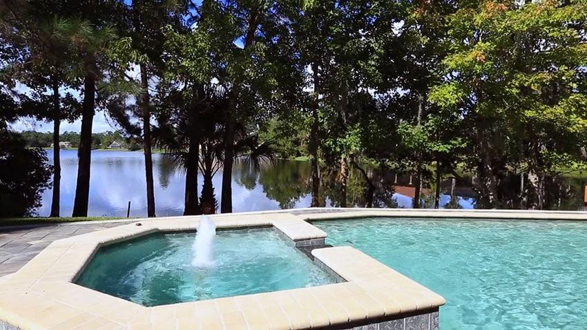 Lake views from pool and hot tub
