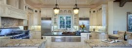 luxury-traditional-cream-color-cabinet-kitchen-with-peninsula-and-island-with-granite-counter