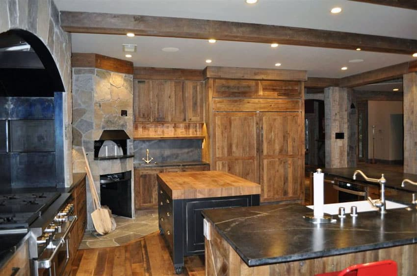 27 amazing double island kitchens design ideas for Building rustic kitchen cabinets