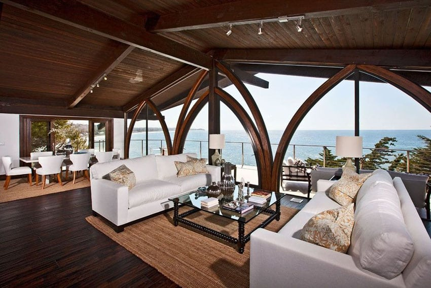Tropical style living room with million dollar ocean views