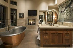 25 Craftsman Style Bathroom Designs (Vanity, Tile & Lighting)
