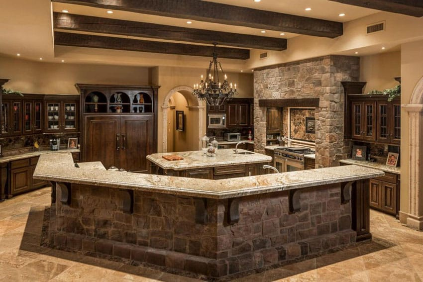 Custom Rustic Kitchens Prepossessing Rustic Kitchen Countertops  Home Design Inspiration Design