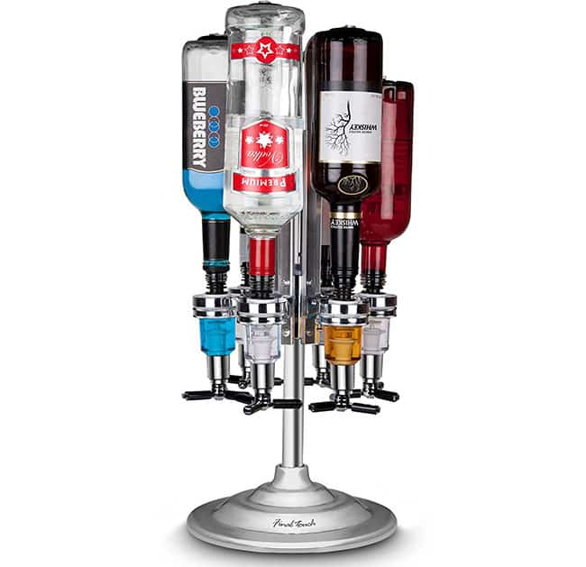 6 bottle bar caddy for alcohol