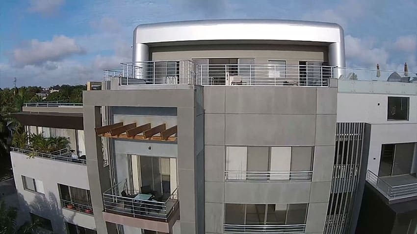 Modern rooftop apartment design with swimming pool for Apartment plans in ghana