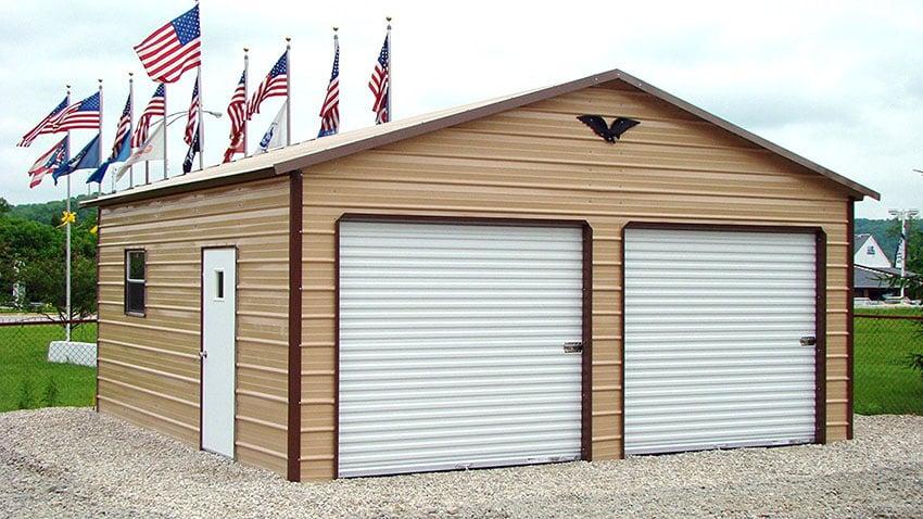 Backyard metal shed