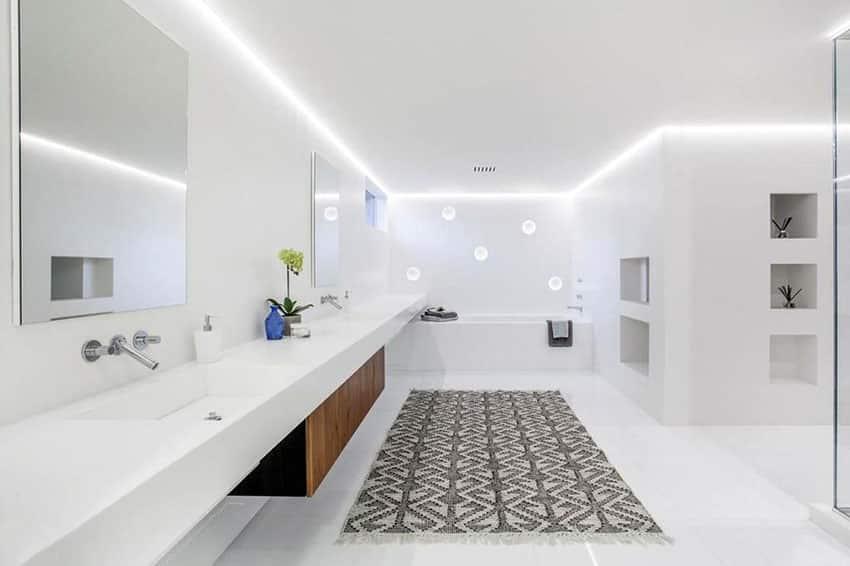 Bright white modern bathroom