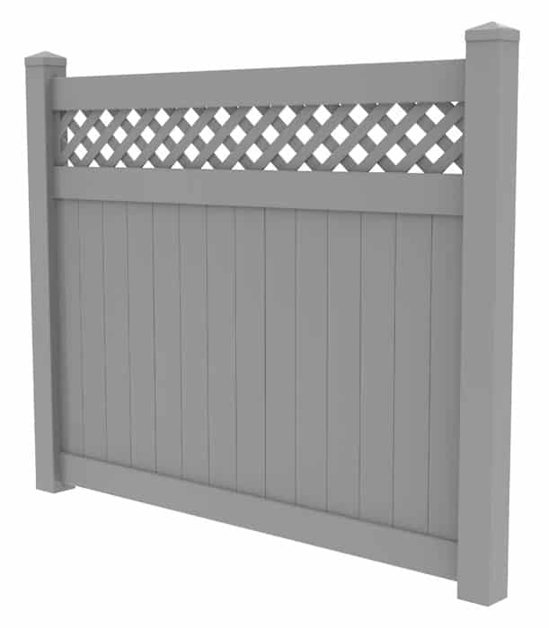 Composite fence with lattice on top