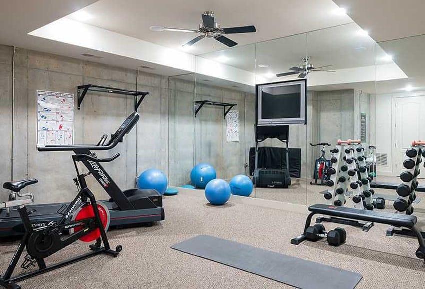Concrete home gym