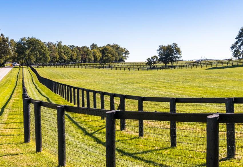 Double fence on farm