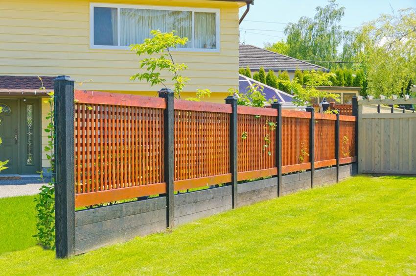 Japanese style wood fence