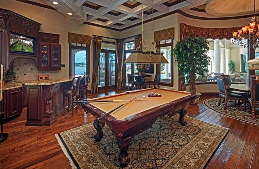 Man cave billiards room