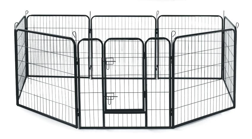 Metal dog fence for home