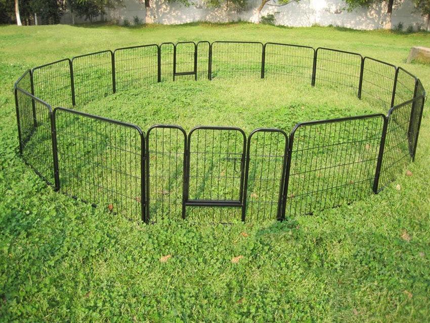 Metal pet fence