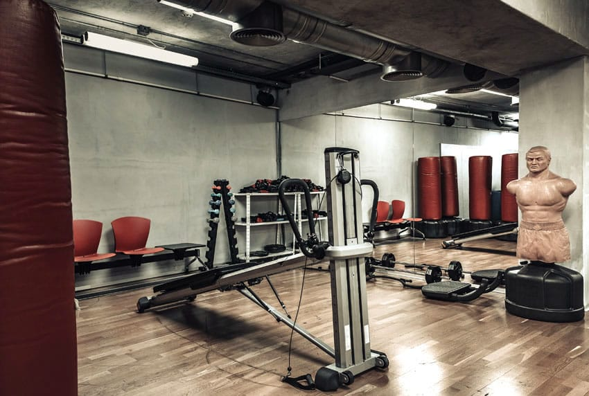 MMA man cave work out room