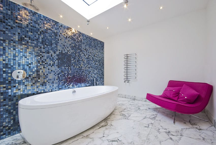 Take It Up A Notch With Gl And Marble Tile Mosaic Accent Shower