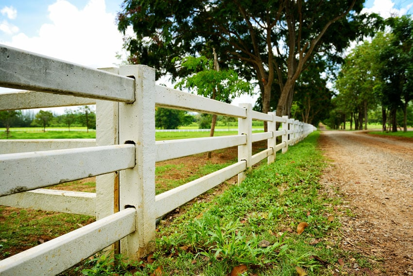 Post and rail fence design