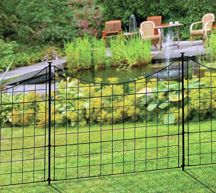 Powder coated garden fence