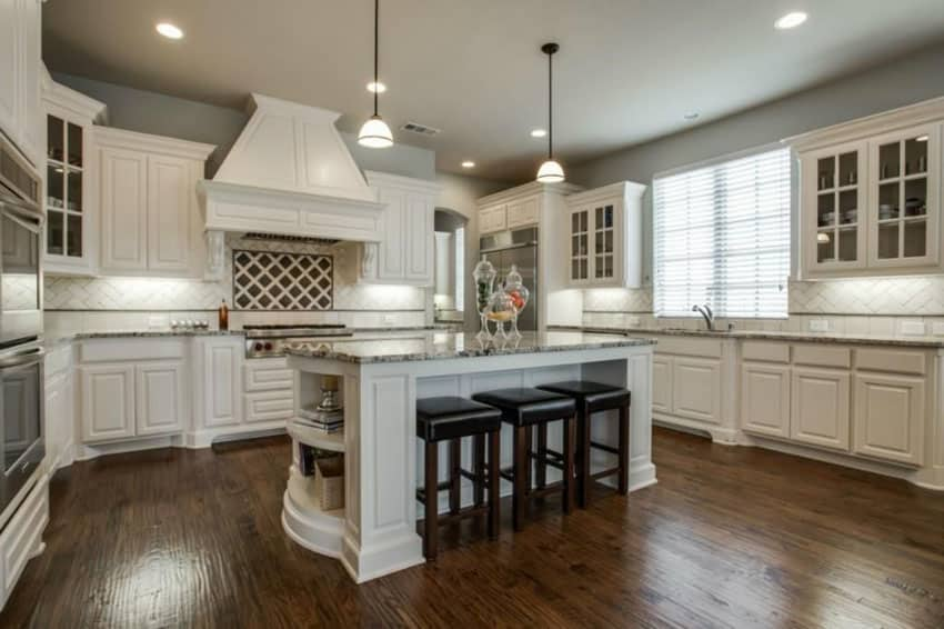 Kitchen Colors White Cabinets Black Countertops