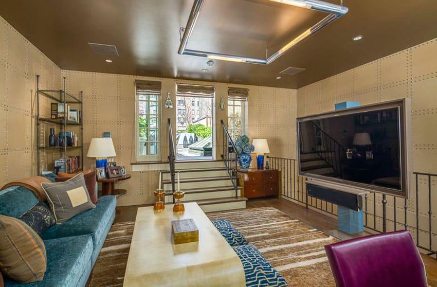 Contemporary decor sunken living room