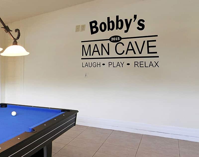Custom name man cave sign