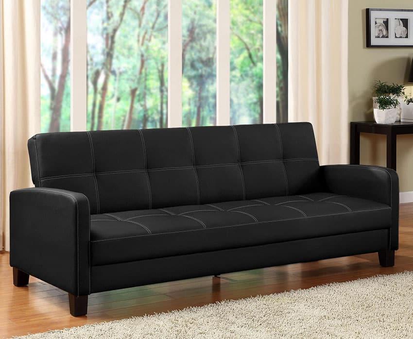 Delaney black sleeper sofa