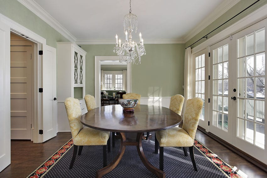 25 formal dining room ideas design photos designing idea for Light green dining room
