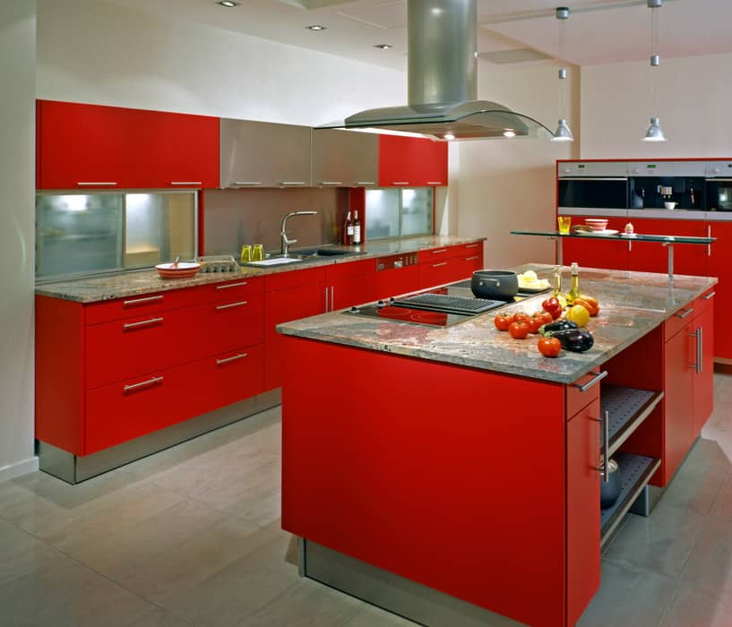 large-modern-red-cabinet-kitchen-with-island