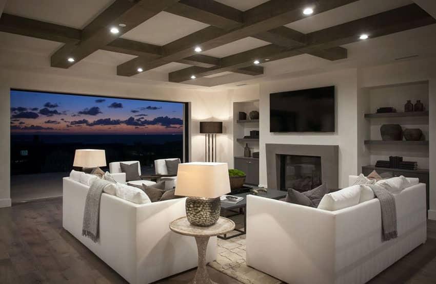 Luxury living room with sliding door for outdoor living