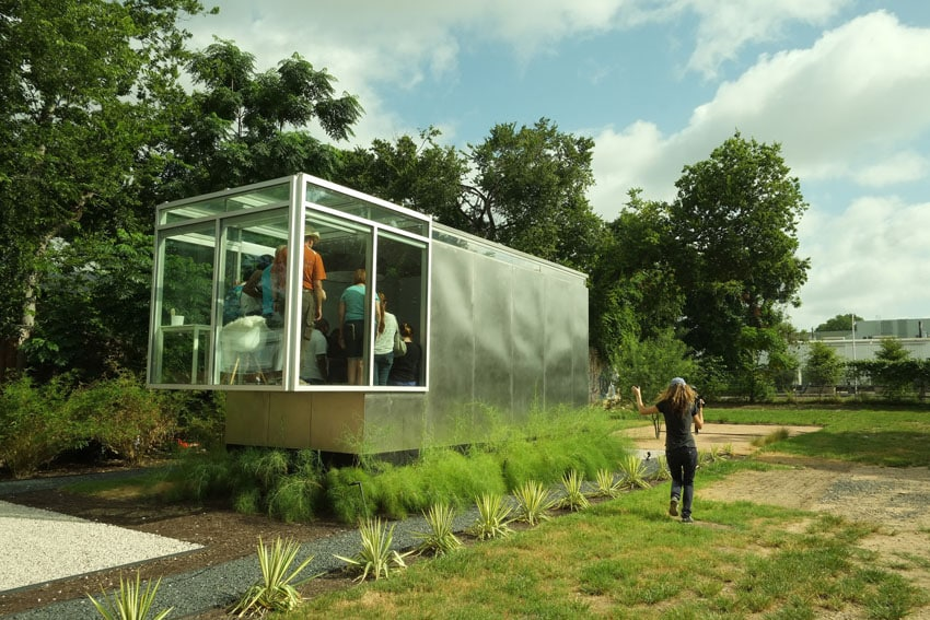 Micro house with glass viewing area