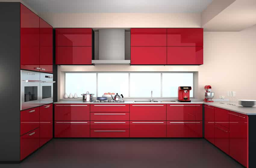 modern-u-shaped-kitchen-with-red-cabinets