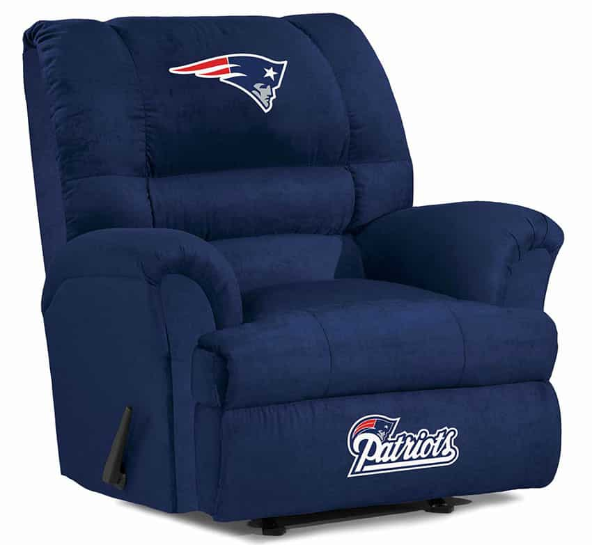 NFL reclining chair with team logo