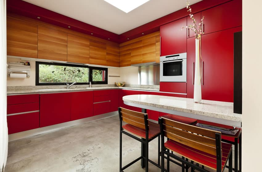 red-and-wood-grain-cabinet-kitchen