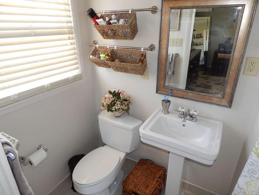 Awesome Our Large Bathroom Is Sooo Small  Bathroom Storage Solution Baskets