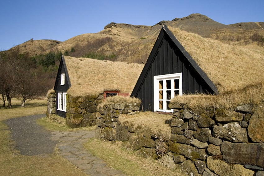 Sod roof tiny houses