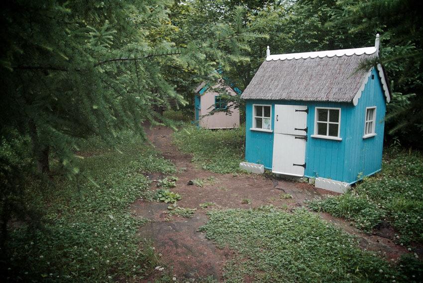 Tiny blue house