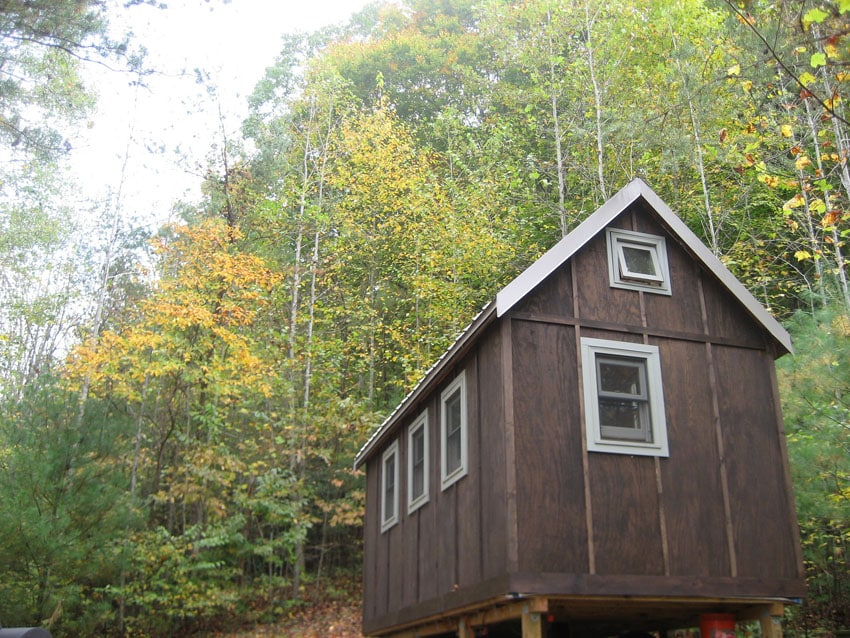 Tiny house in forest