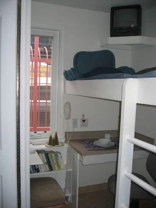 Tiny house interior bed