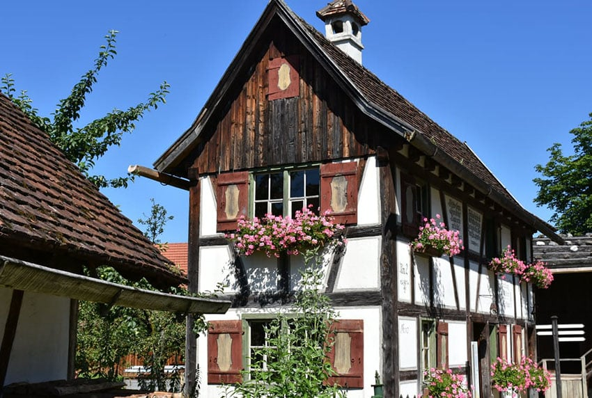 Tiny two story Swiss style house