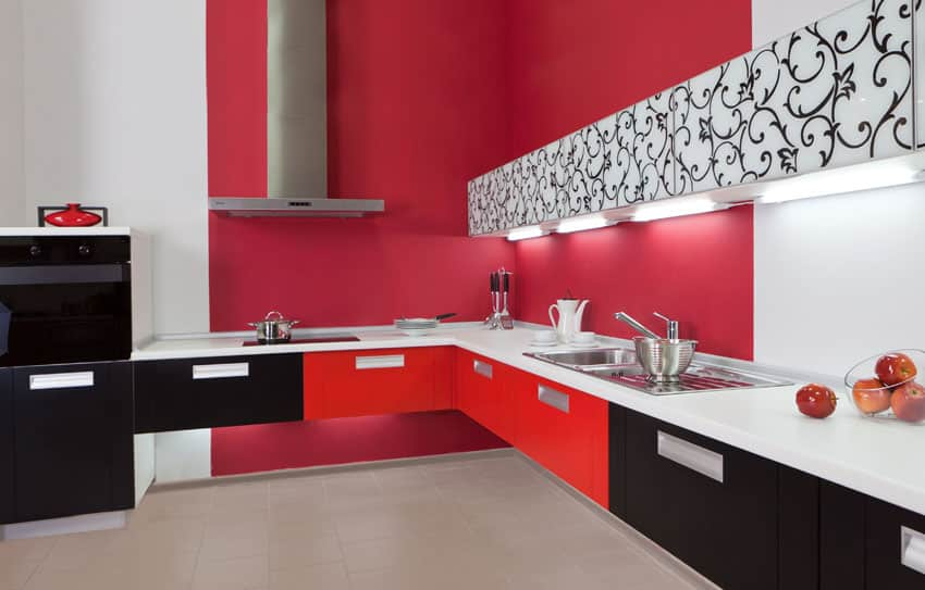 two-tone-red-and-black-cabinet-kitchen