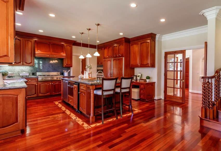 u-shaped-kitchen-with-brazillian-chery-floors-and-cabinets