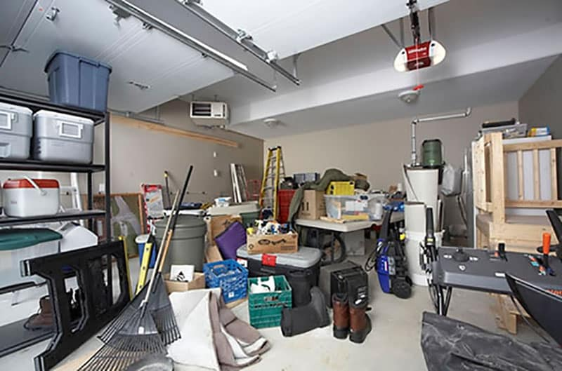 Garage makeover before picture