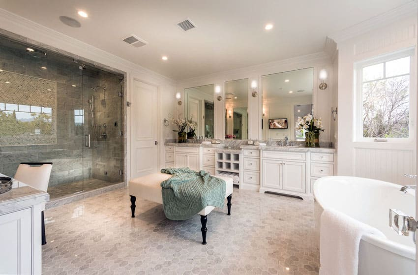 Luxurious mansion bathrooms pictures designing idea Luxury master bathroom suites