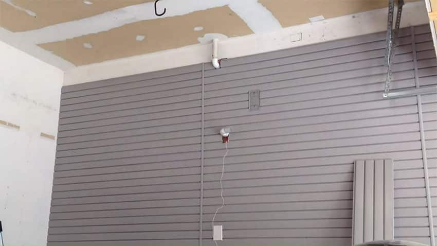 Pvc slatwall installation after picture