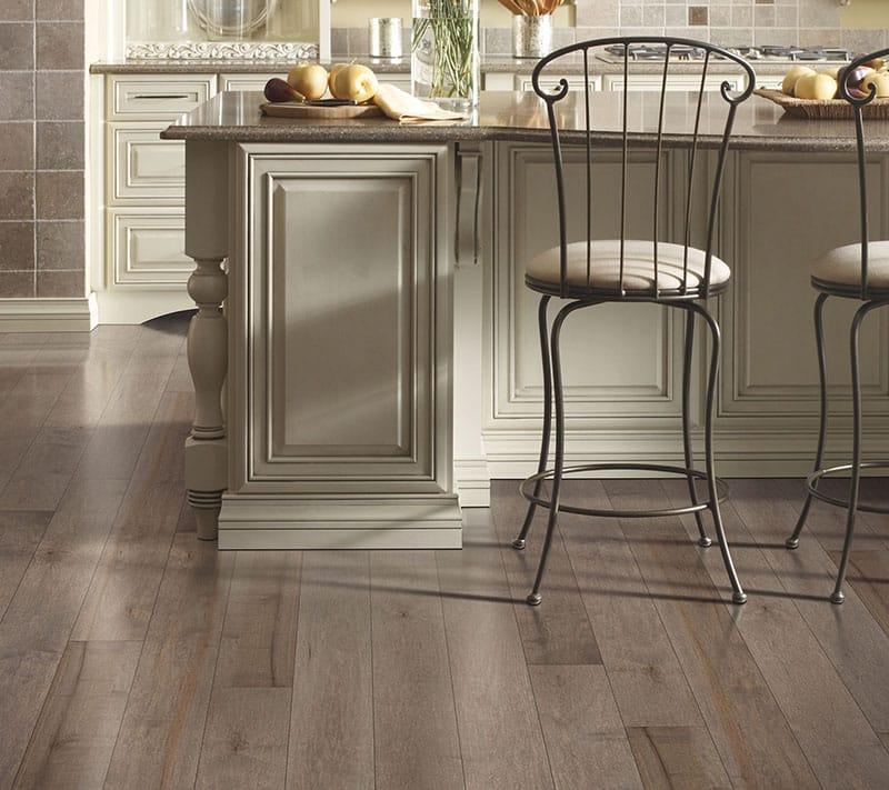 Engineered maple wood floor planks