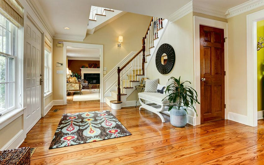 Foyer with engineered white oak flooring